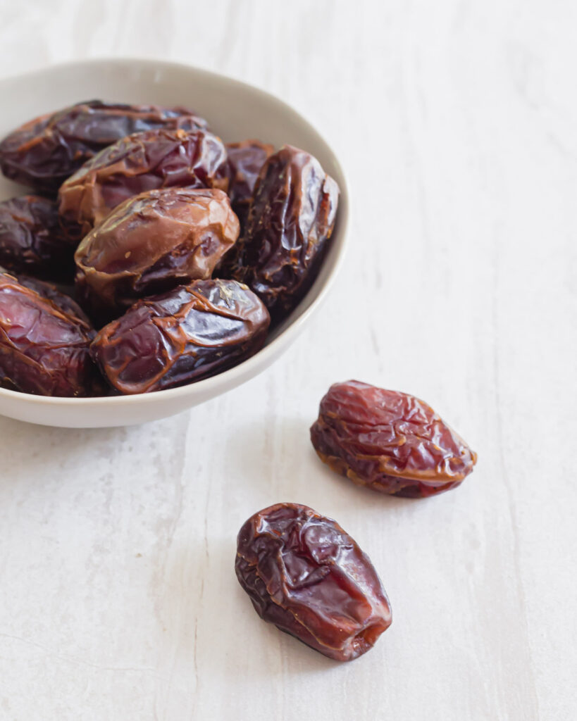 Pitted medjool dates.