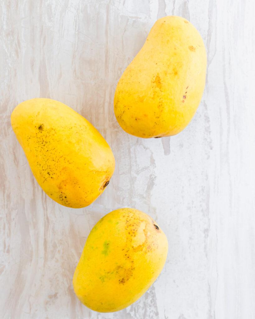 Ripe ataulfo mangos.